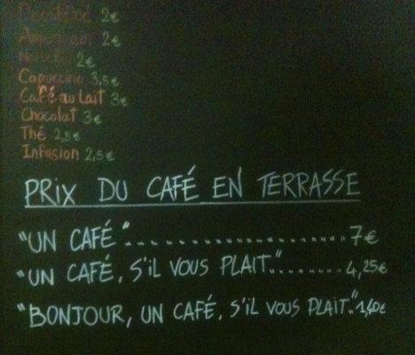 cafe politeness